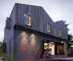 Twin Peaks House in Hawthorn, Australia by Jackson Clements Burrows