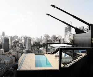 Penthouse Apartment With an Interesting Layout in Beirut, Lebanon