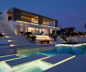 Beach Villa In Roca Llisa, Ibiza With Panoramic Sea Views