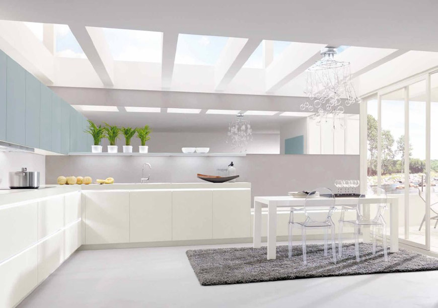Bright White kitchen by Alno