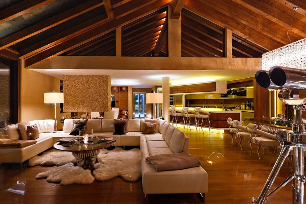 Open Plan Living, Dining and Kitchen, Chalet Zermatt Peak