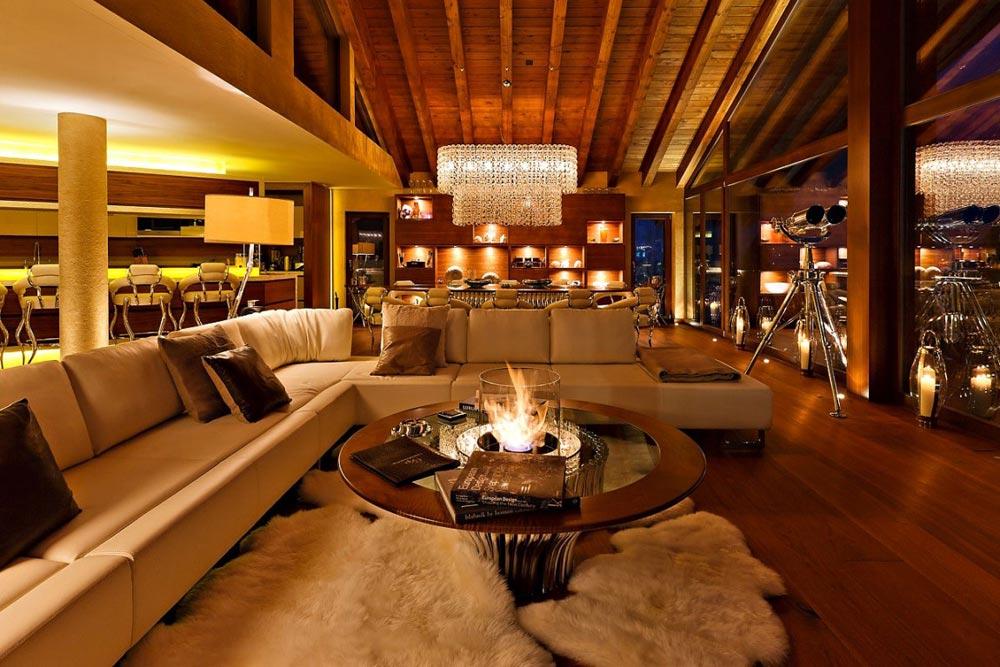 Open Plan Living, Dining and Kitchen, Chalet Zermatt Peak
