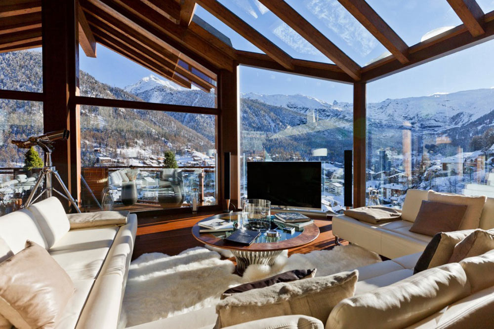 Living Room, Chalet Zermatt Peak