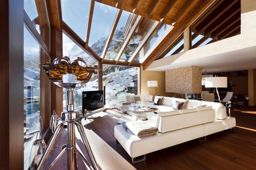 Living Room, Chalet Zermatt Peak