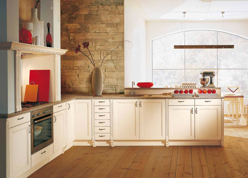 Classic Kitchen, Red Accents by Alno