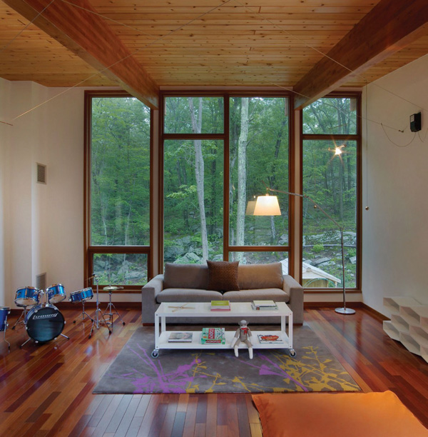 Living Area, Hudson Valley Country House
