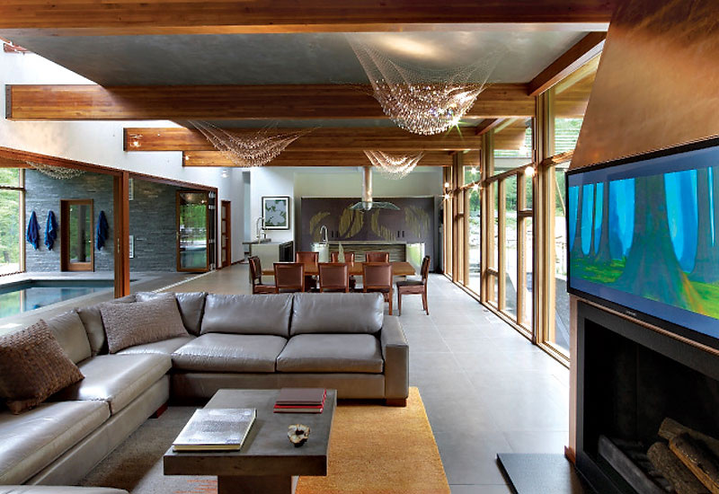 Living Room, Hudson Valley Country House