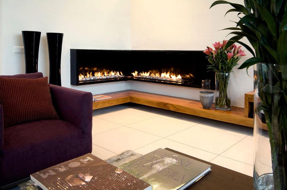 Living Room Fireplace - Moss Oaklands Residence