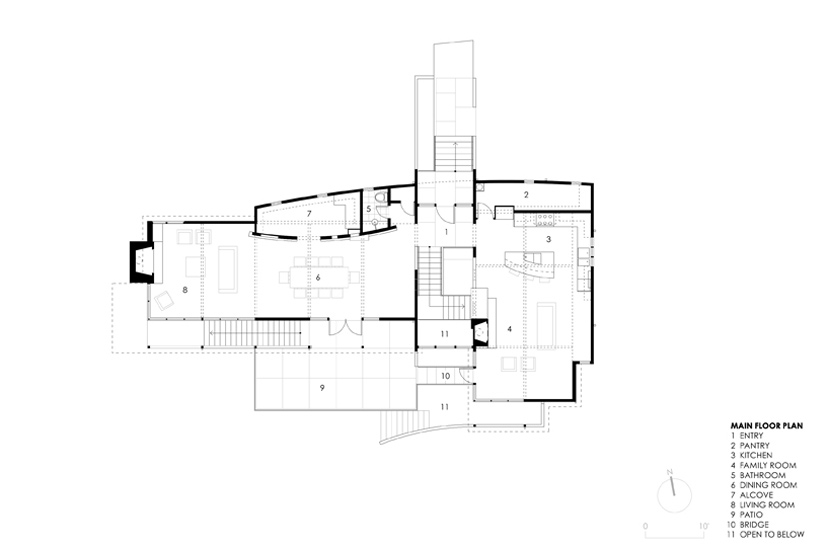 Main Floor Plans, Strathmoor House