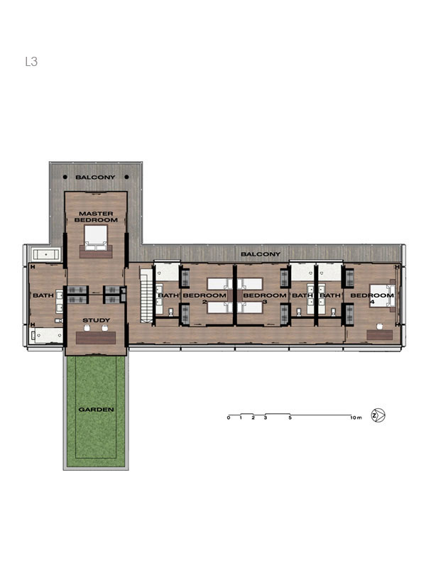 Villa Amanzi Level 3 Plans