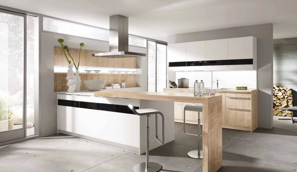 White Kitchen, Woodern Counter Tops by Alno