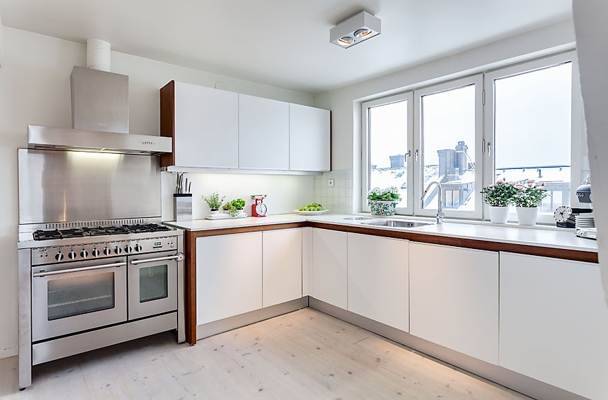 Kitchen, Attic Penthouse in Stockholm