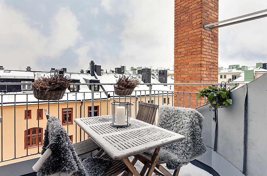 Terrace, Attic Penthouse in Stockholm
