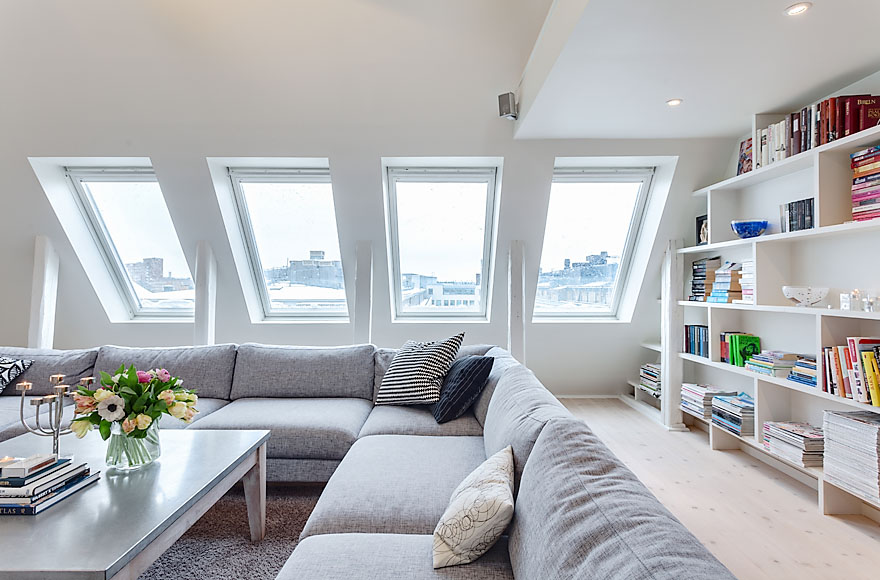 Living Space, Attic Penthouse in Stockholm