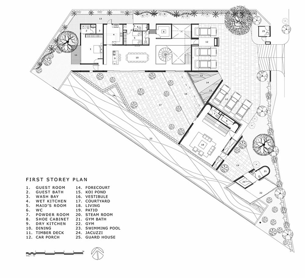 First Story Plan, Black & White House