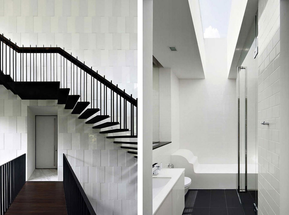 Stairs, Bathroom, Black & White House