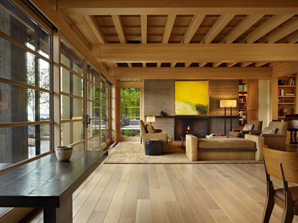 Living Room, Engawa House by Sullivan Conard Architects