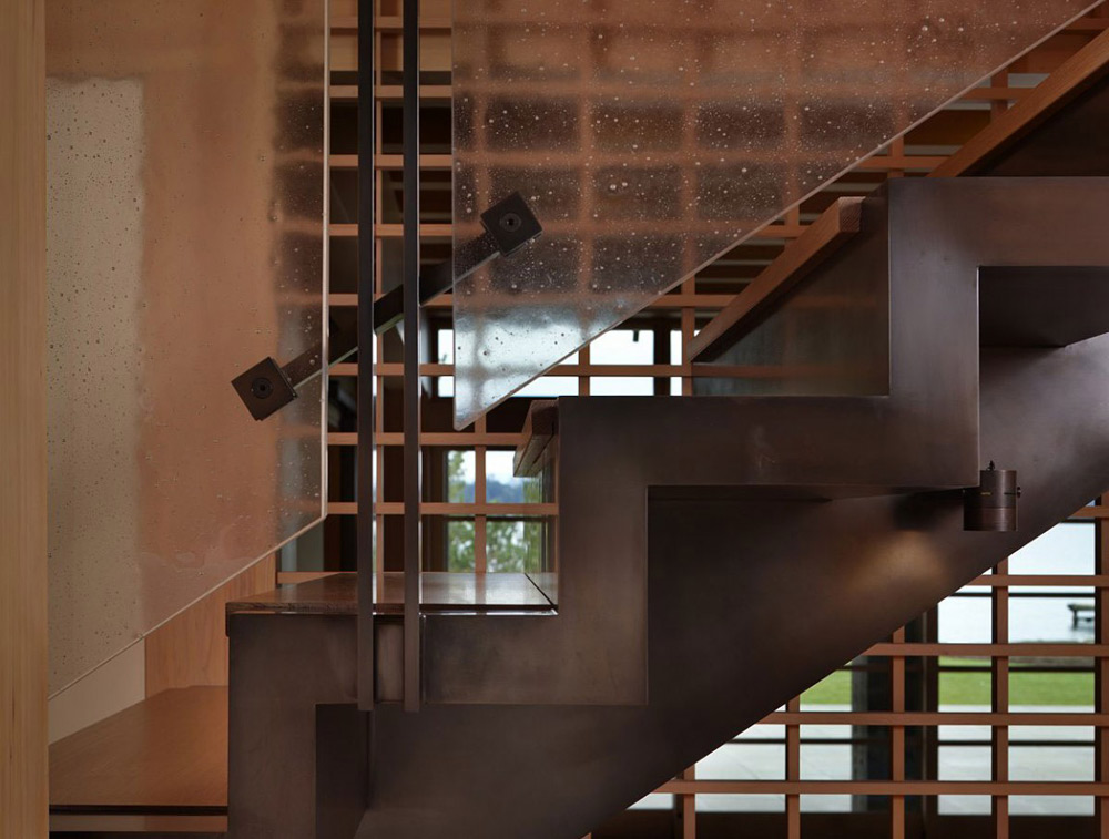 Stairs, Engawa House by Sullivan Conard Architects