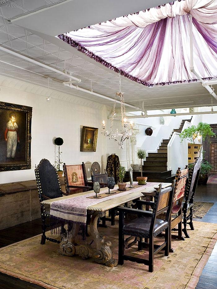 Dining Room, Duplex Penthouse Loft in Chelsea, New York City