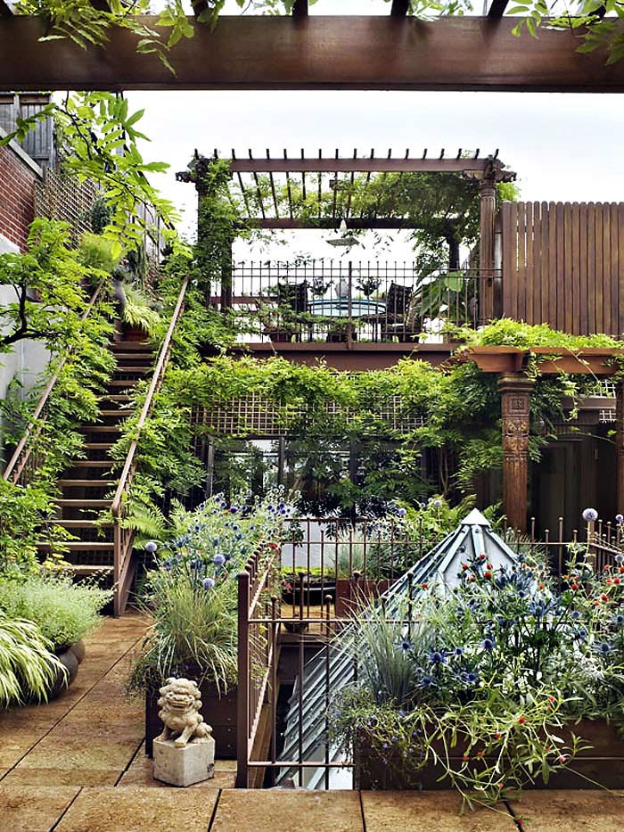 Rooftop Garden, Duplex Penthouse Loft in Chelsea, New York City