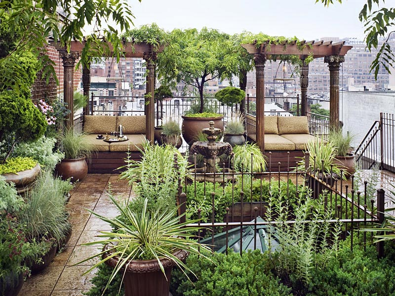 Rooftop Garden, Duplex Penthouse Loft in Chelsea, New York City