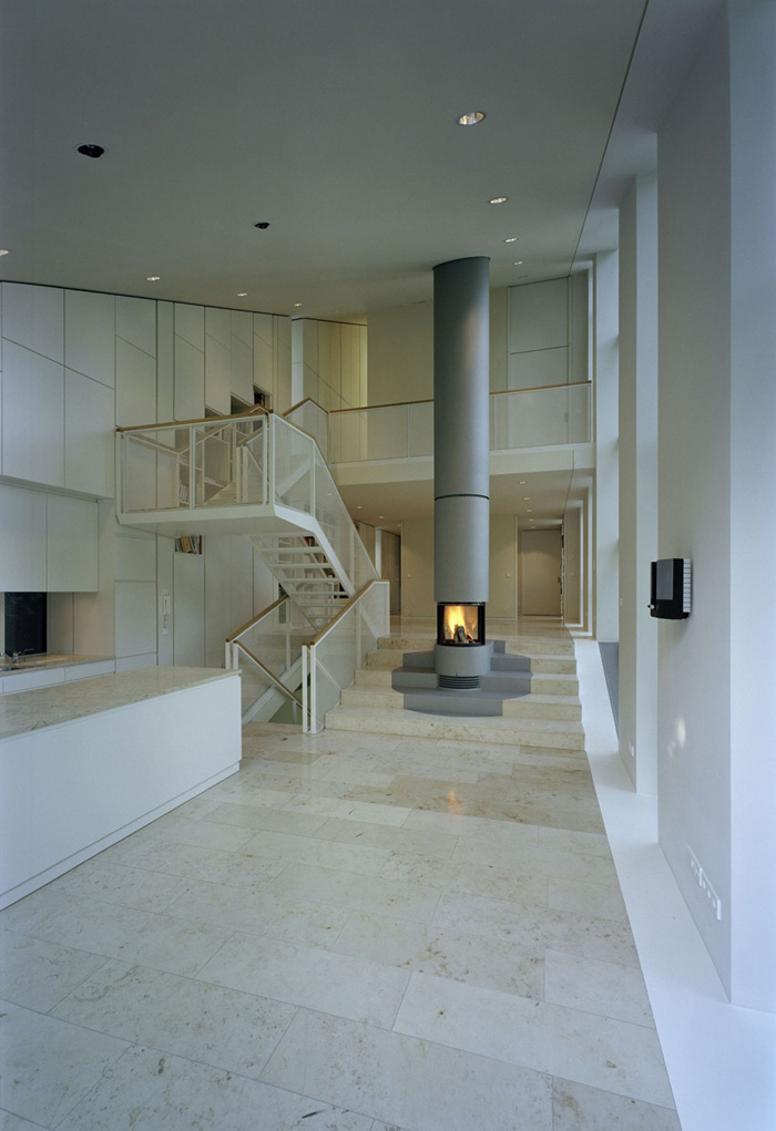 Fireplace, Haus W by Pott Architects