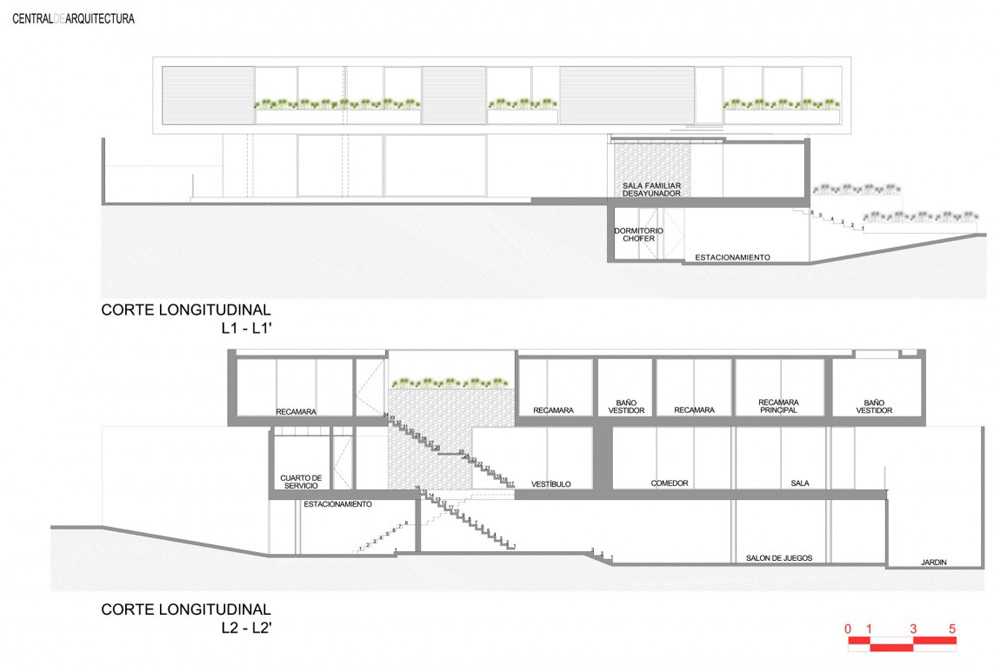 Plans house la punta by central de arquitectura for Plan de arquitectura