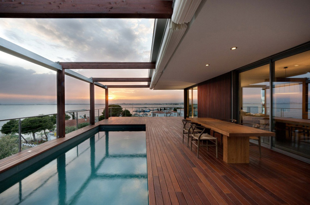 Terrace Pools house v in costa bravamagma arquitectura