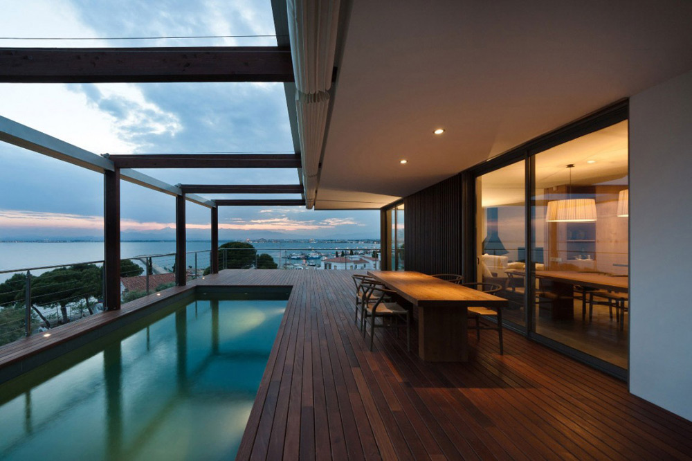 Terrace & Pool, House V in the Costa Brava by Magma Arquitectura