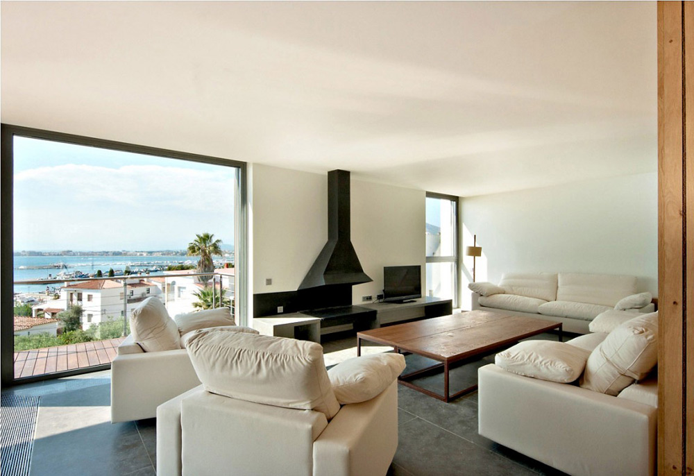 Living Room, House V in the Costa Brava by Magma Arquitectura