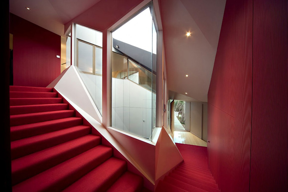 Stairs, Klein Bottle House by McBride Charles Ryan