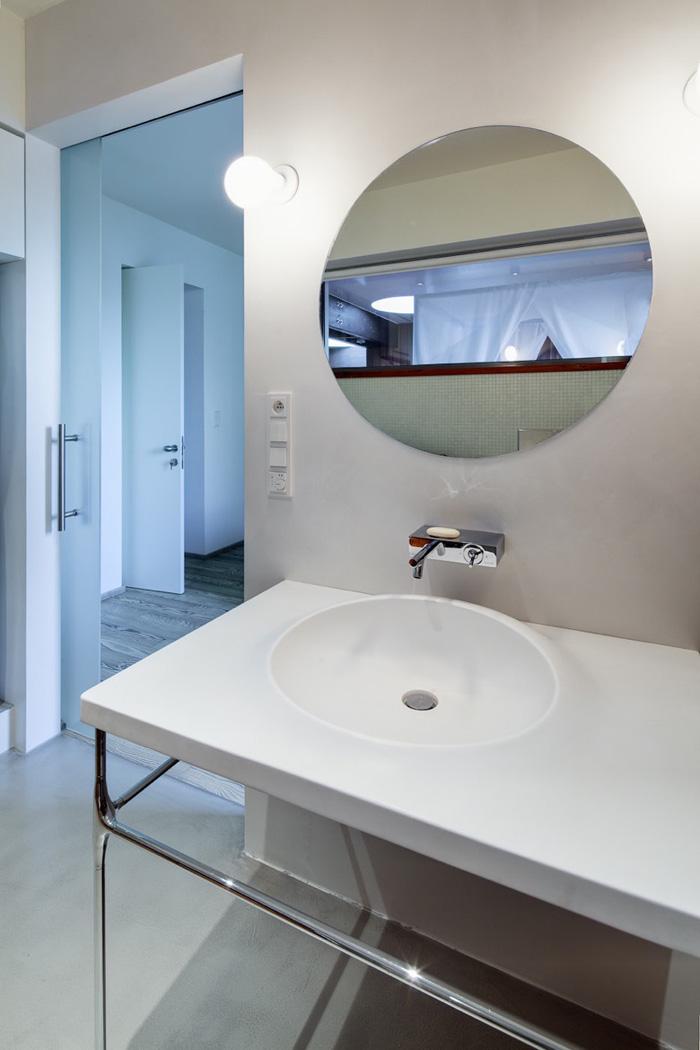 Bathroom, Loft in Bratislava by Atelier SAD