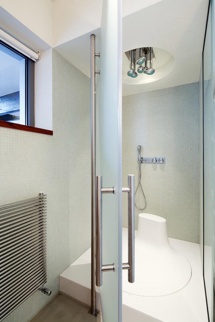 Shower, Loft in Bratislava by Atelier SAD