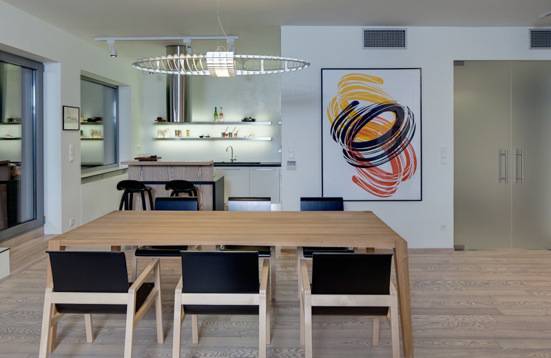Dining Space, Loft in Bratislava by Atelier SAD