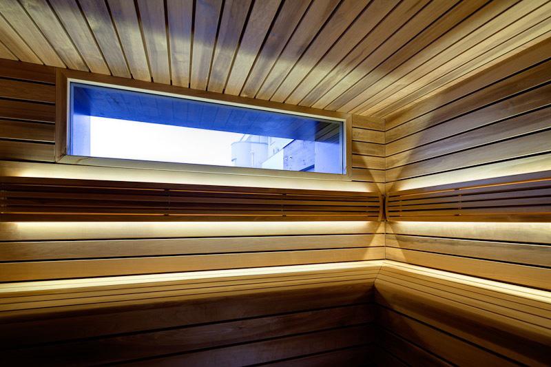Sauna Room, Loft in Bratislava by Atelier SAD