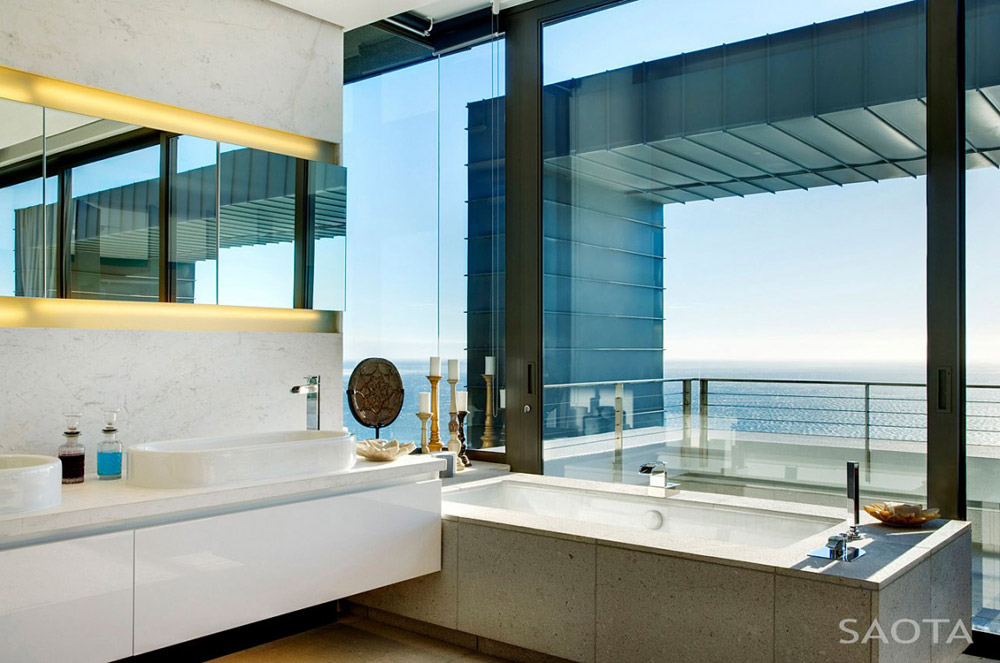Bathroom, Nettleton 199 by SAOTA and OKHA Interiors