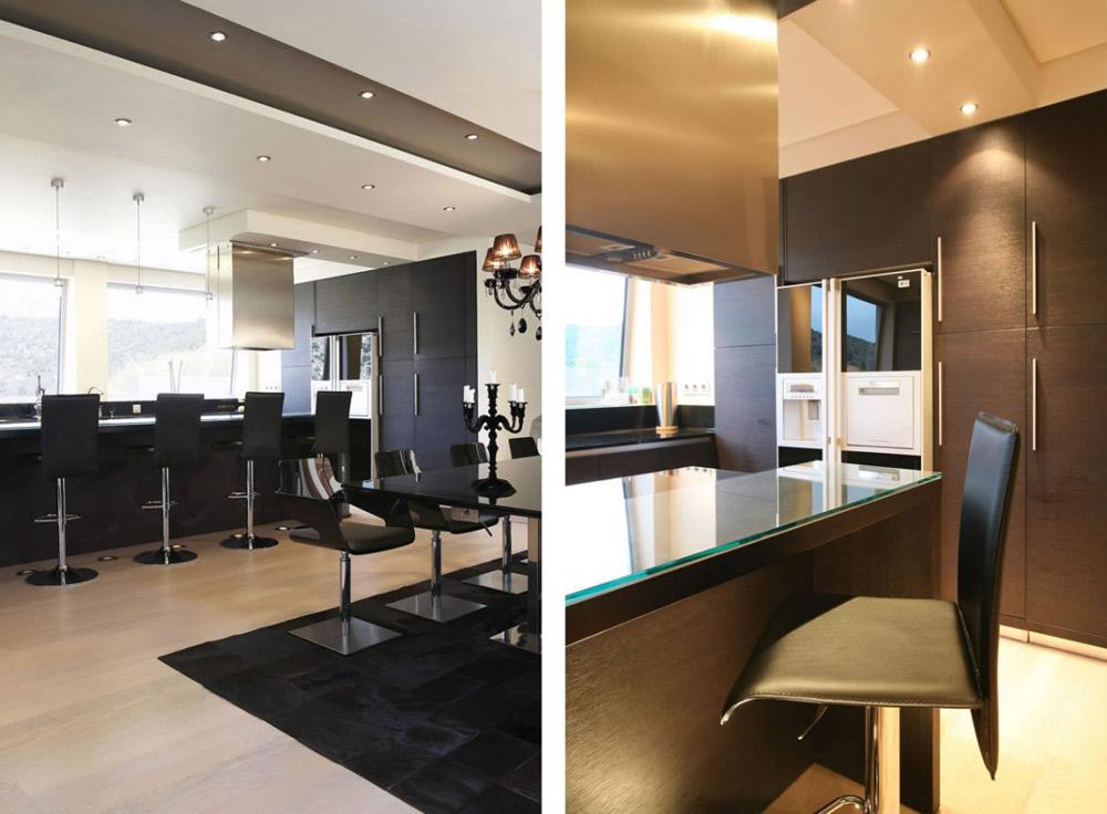 Kitchen, Dining, Oikia Panorama Voulas Villa by Dimitris Interiors Economou