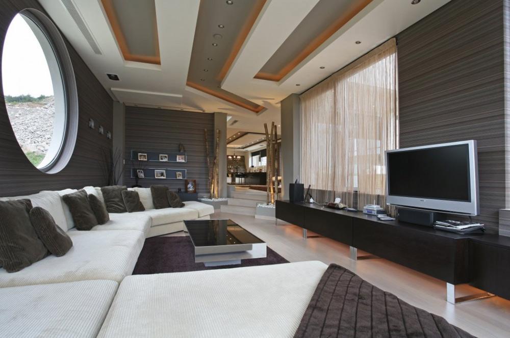 Living Room, Oikia Panorama Voulas Villa by Dimitris Interiors Economou