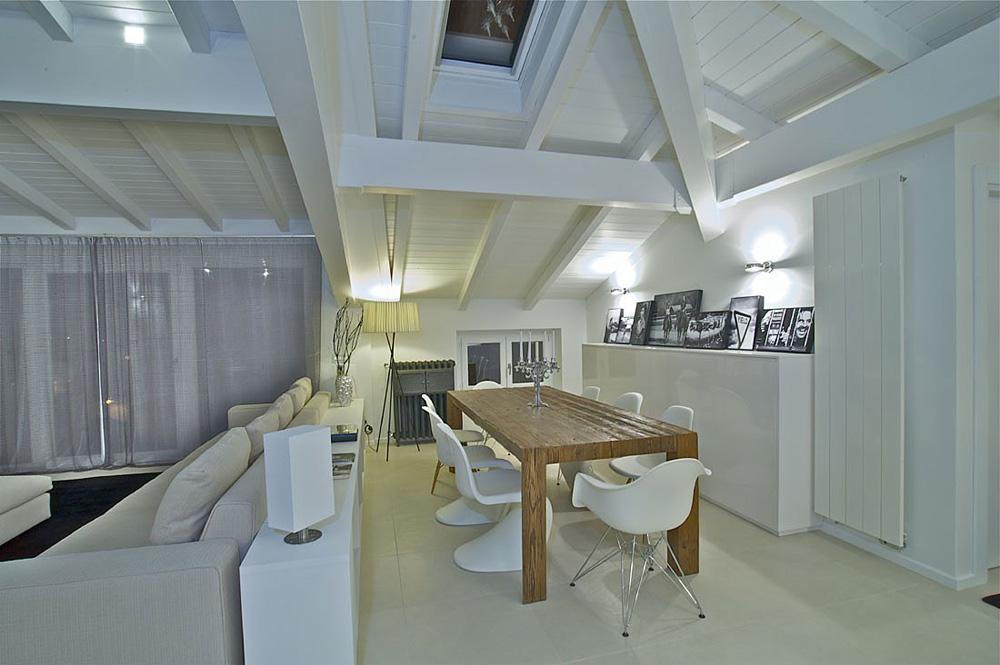 Dining space, Penthouse in Sondrio, Italy by Fabio Gianoli