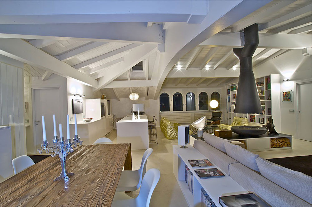 Attic Penthouse in Sondrio, Italy by Fabio Gianoli