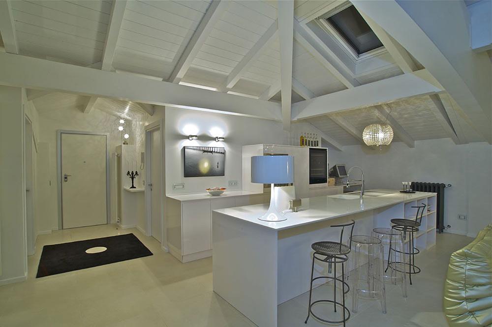 Kitchen, Penthouse in Sondrio, Italy by Fabio Gianoli