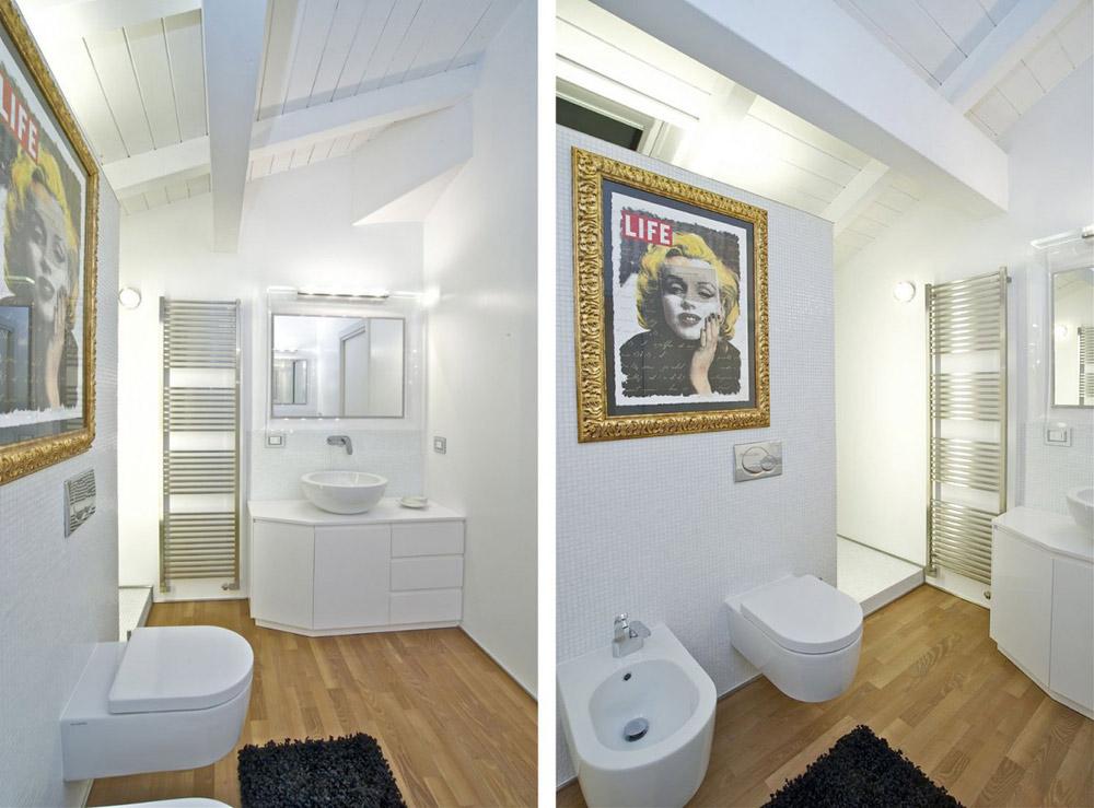 Bathroom, Penthouse in Sondrio, Italy by Fabio Gianoli