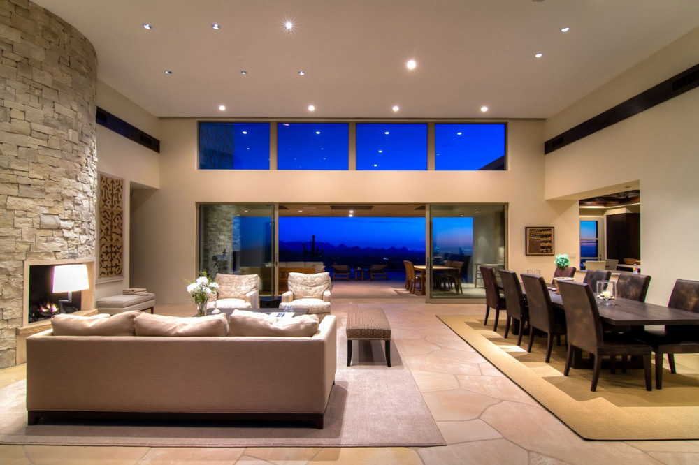 Living Space, Shanholt Residence by Brissette Architects