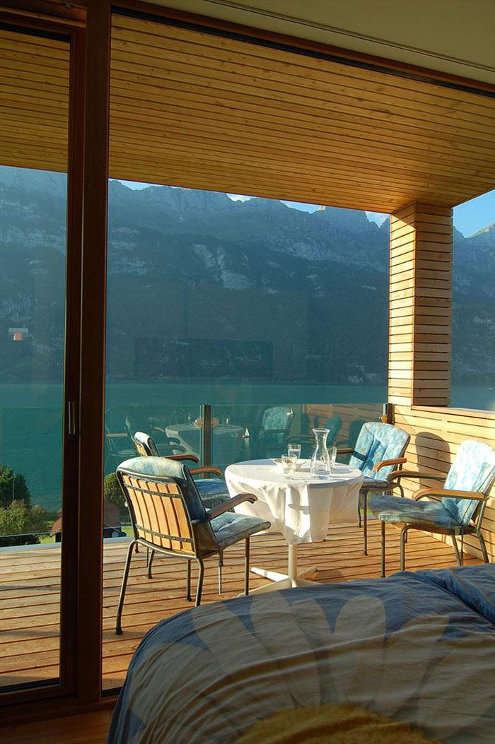 Terrace, Wohnhaus Am Walensee by K_M Architektur