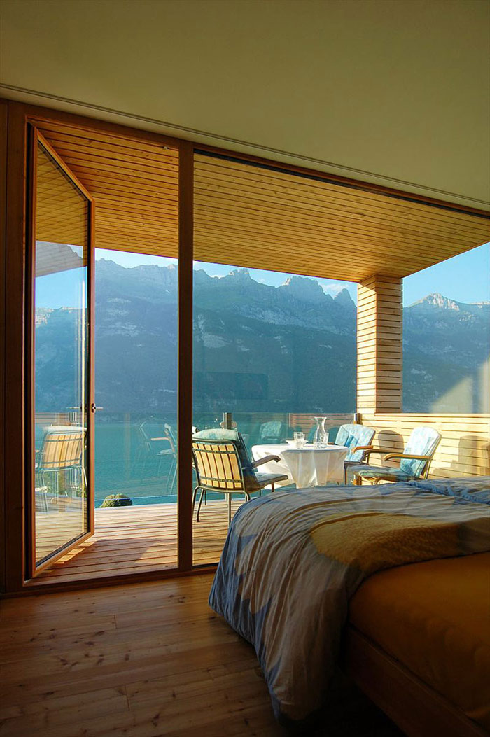 Bedroom, Wohnhaus Am Walensee by K_M Architektur