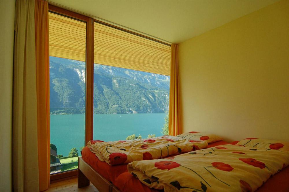 Bedroom, Wohnhaus Am Walensee by K_M Architektur