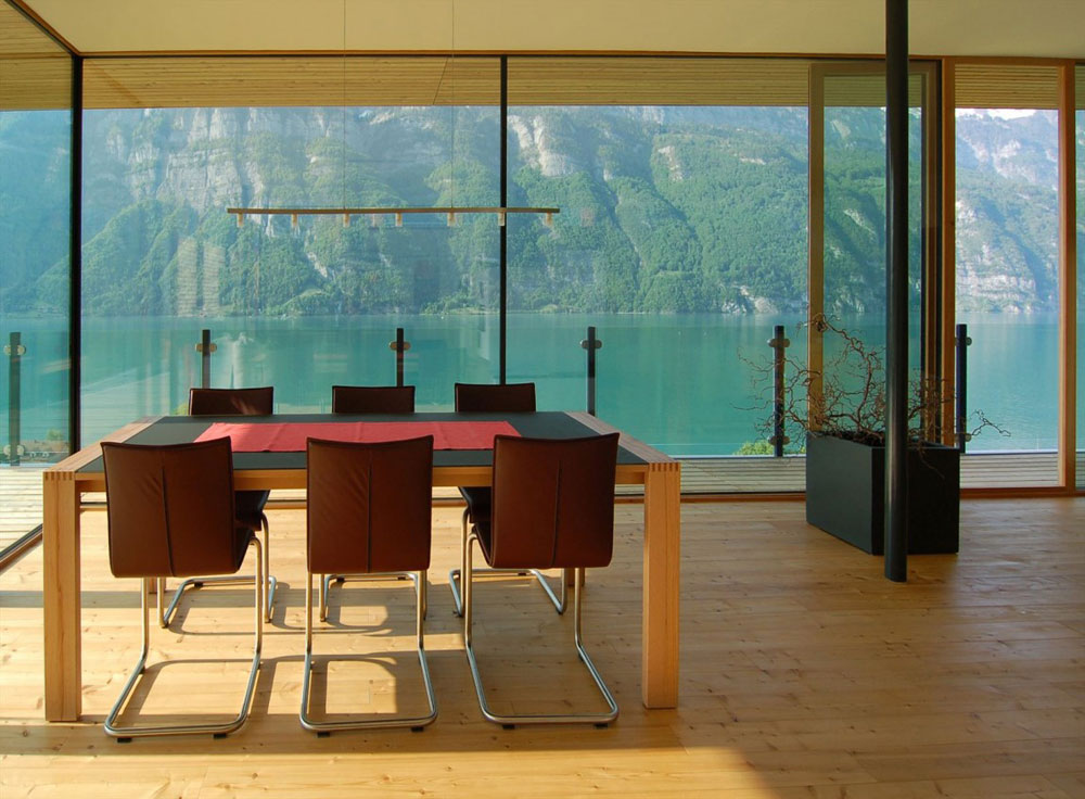 Dining Space, Wohnhaus Am Walensee by K_M Architektur