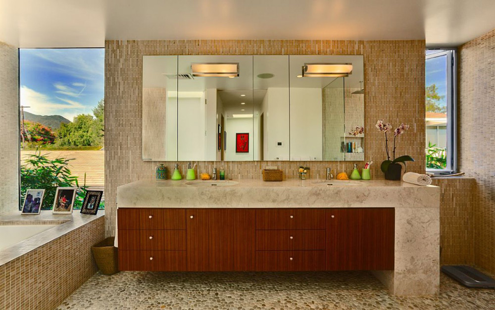 Bathroom, Carrillo Residence, Los Angeles by Ehrlich Architects