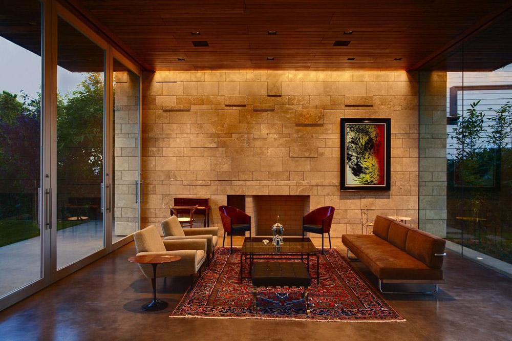 Living Space, Carrillo Residence, Los Angeles by Ehrlich Architects