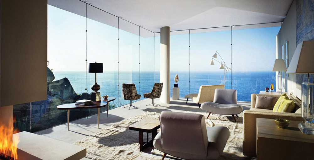 Living Space, Sea Views, Casa Finisterra, Baja California Sur, Mexico by Steven Harris Architects
